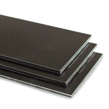 Brushed Black Aluminium Composite Sheet