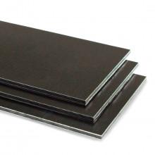 Brushed Black Aluminium Composite Sheet