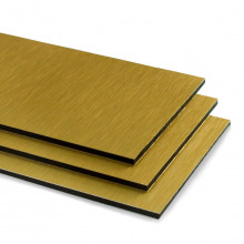 Brushed Gold Aluminium Composite Sheet