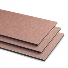 Brushed Rose Gold Aluminium Composite Sheet