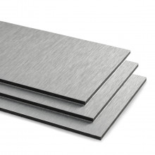 Brushed Silver Aluminium Composite Sheet