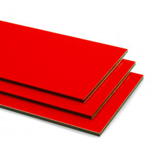 Red Aluminium Composite Sheet