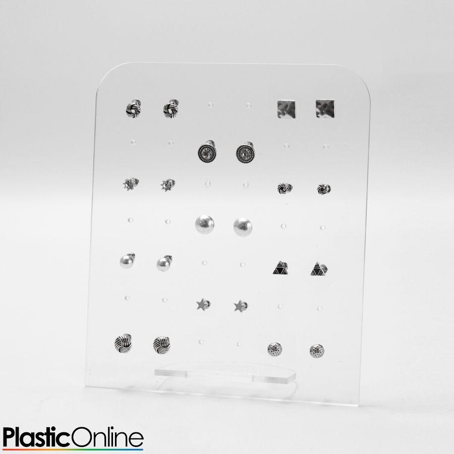 36 60 72 Hole Earring Stud Display Stand Acrylic Holder Jewellery 42