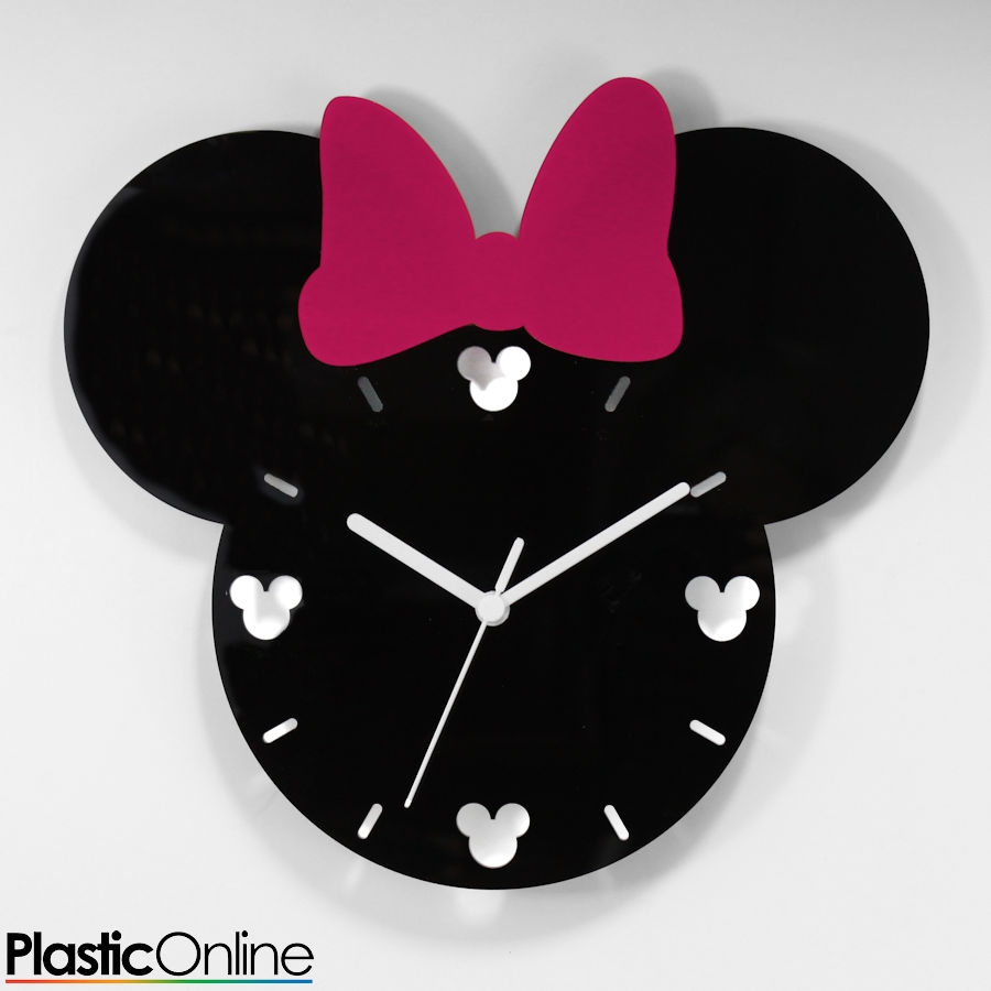 Minnie Mouse Mickey Mouse Inspired Wall Clock Custom